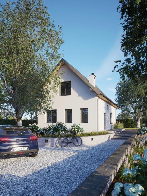 Projekt domu z poddaszem