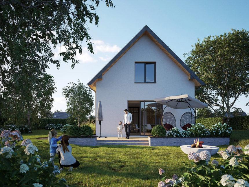 Najprostszy projekt domu z poddaszem