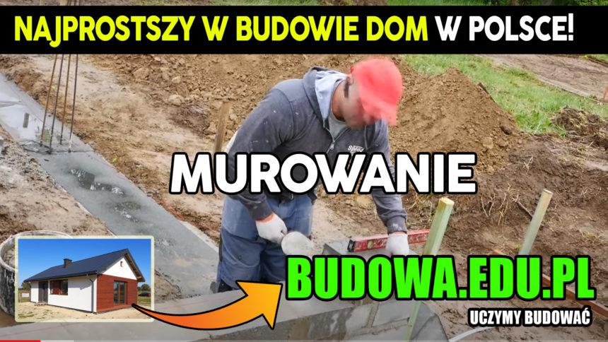 Dom na start, sezon 2 cz.4 | Jak wymurować ściany fundamentowe? | Budowa domu | Projekt domu 63m2